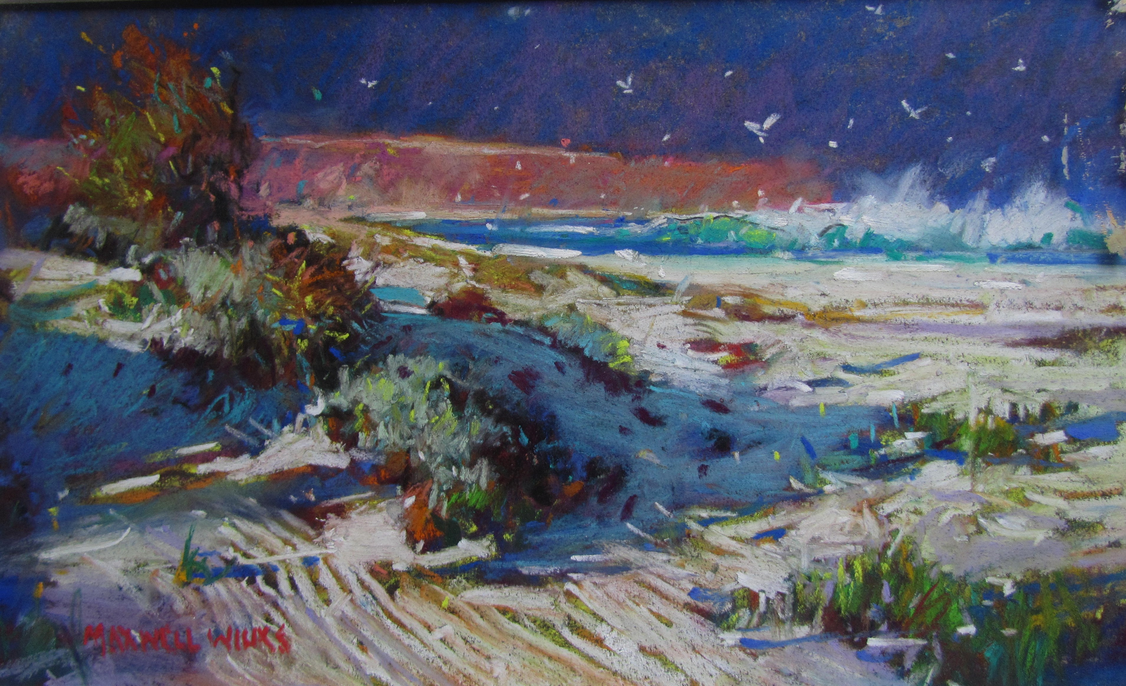 Deserted Beach S.A. Pastel. 200x300. 85