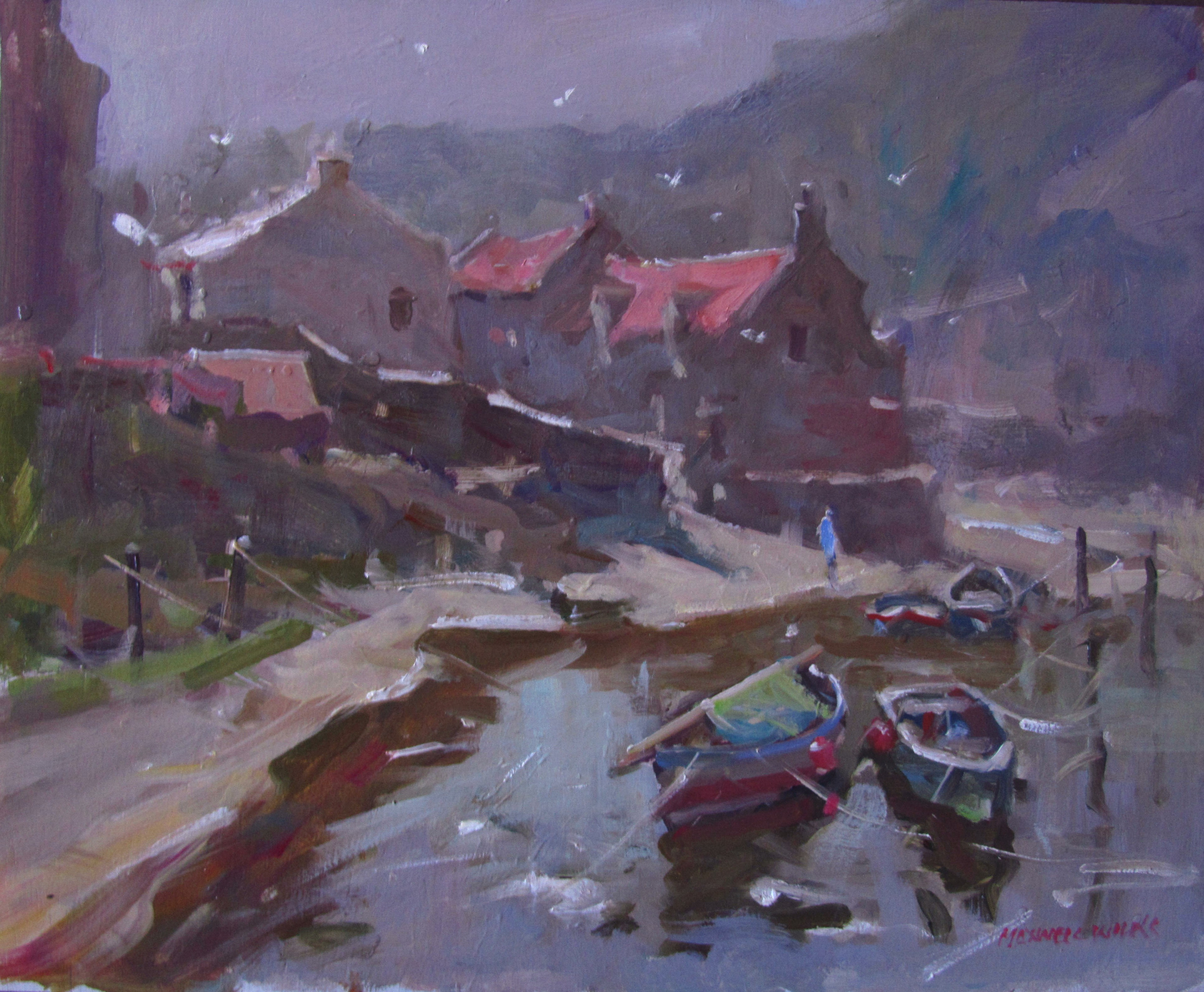 Staithes UK. Oil. 370x300 85
