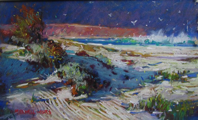 Deserted-Beach-S.A.-Pastel.-200x300.-1085