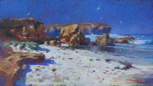 Fallen-rocks-Kangaroo-Island.-S.A-pastel.-820cm-x-460cm