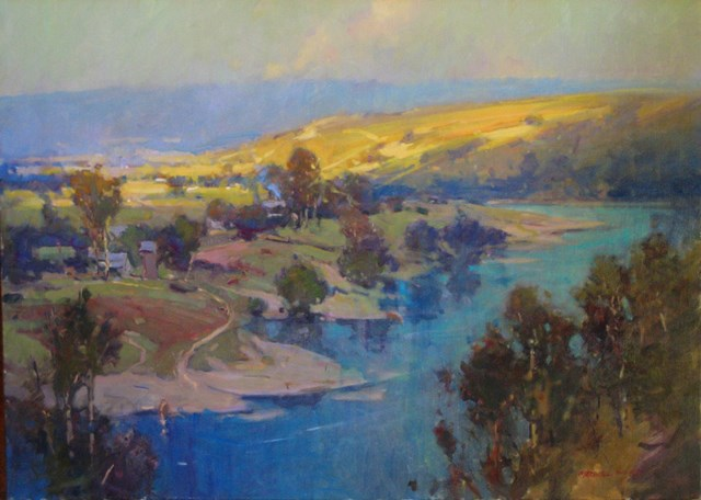 Golden-Light-on-the-Hawksbury.-N.S.W.-oil-72x92cm