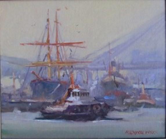 Historic-Ships-Sydney.-oil.-26x31
